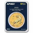 2022 AUS 1 oz Gold Lunar Year of the Tiger (MD® Premier+PCGS)