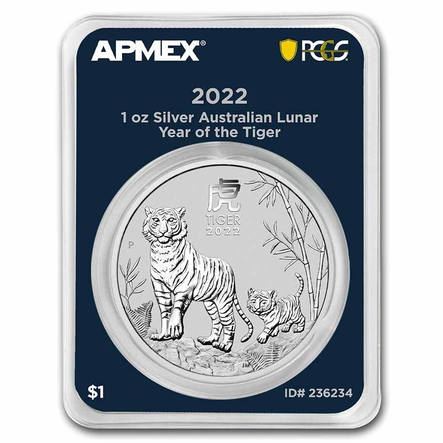 2022 AUS 1 oz Silver Lunar Tiger BU SIII (MD® Premier+PCGS)