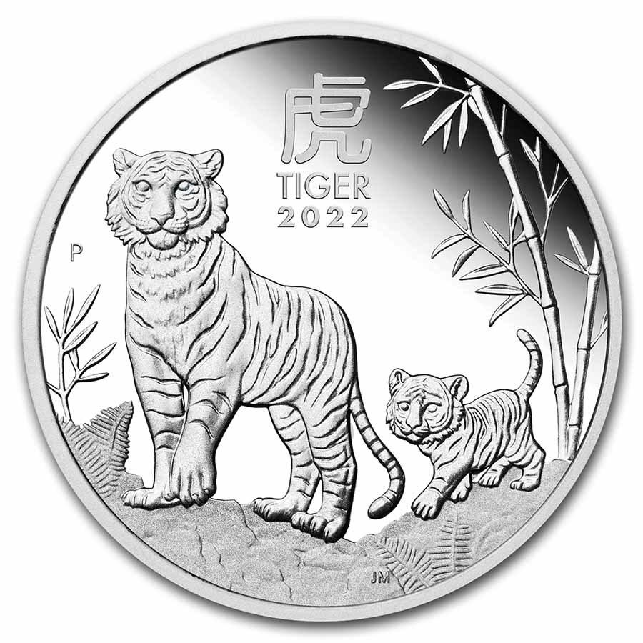 2022 Australia 1/2 oz Silver Lunar Tiger Proof (w/Box & COA)