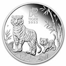 2022 Australia 1 oz Silver Lunar Tiger Proof (w/Box & COA)