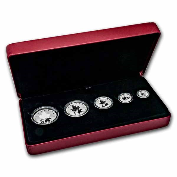 2022 Canada 5-Coin Silver A Radiant Crown Fractional Set