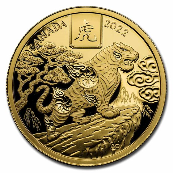 2022 Canada Gold $100 Year of the Tiger Proof