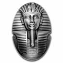 2022 Djibouti 3 oz Silver Mask of Tutankhamun Shaped Coin