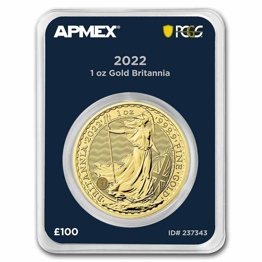 2022 GB 1 oz Gold Britannia (MintDirect® Premier + PCGS FS®)