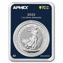 2022 GB 1 oz Silver Britannia (MintDirect® Premier + PCGS FS®)