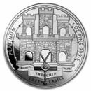 2022 Gibraltar 1 oz Platinum Reverse Proof: Moorish Castle