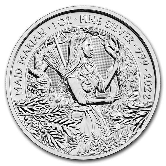 2022 Great Britain 1 oz Silver Myths & Legends: Maid Marian BU