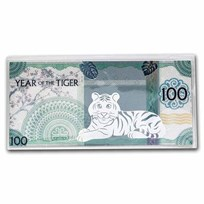 2022 Mongolia Lunar Year of the Tiger Silver Note