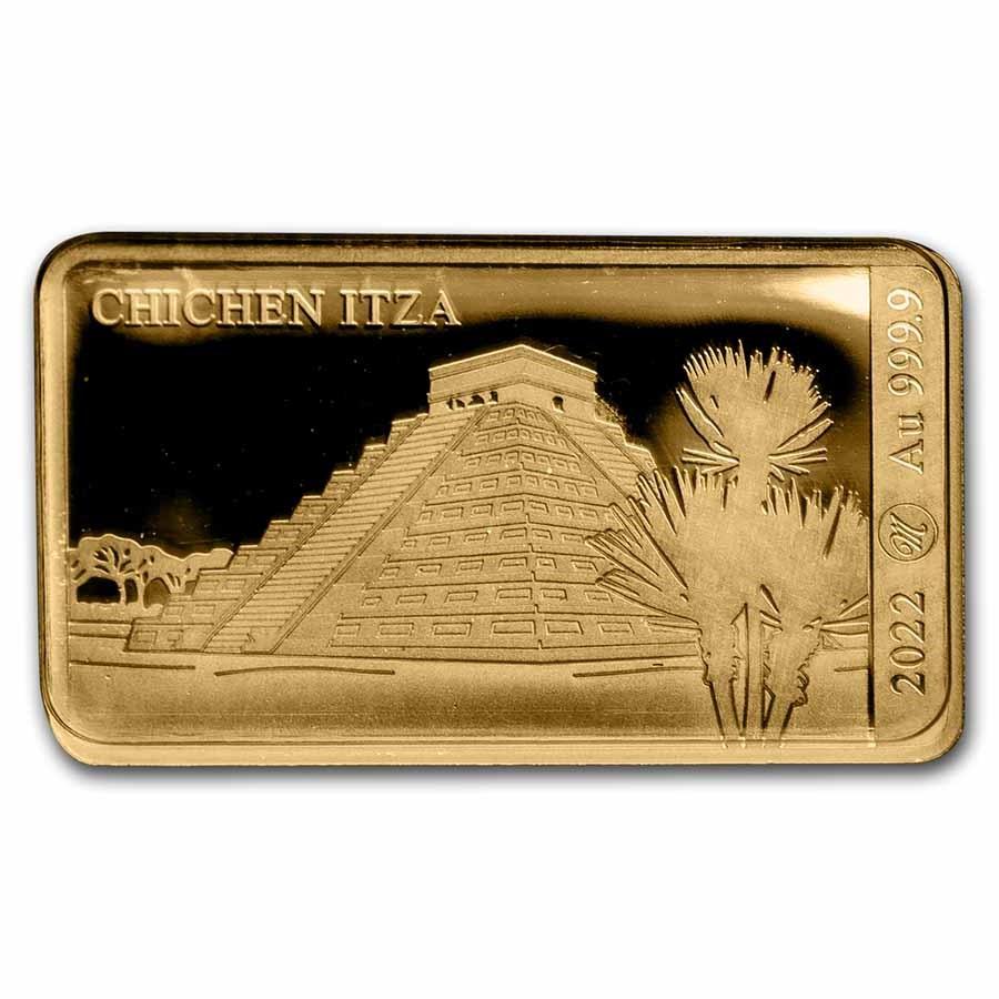 2022 Solomon Islands 1/100 oz Gold Chichen Itza
