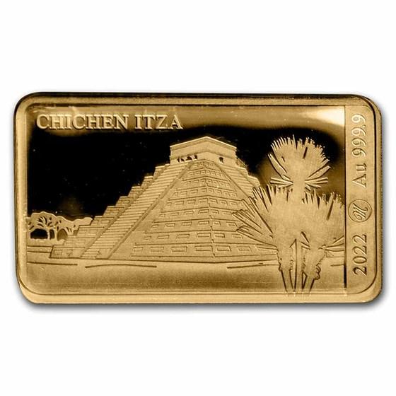 2022 Solomon Islands 1/100 oz Gold Chichén Itzá