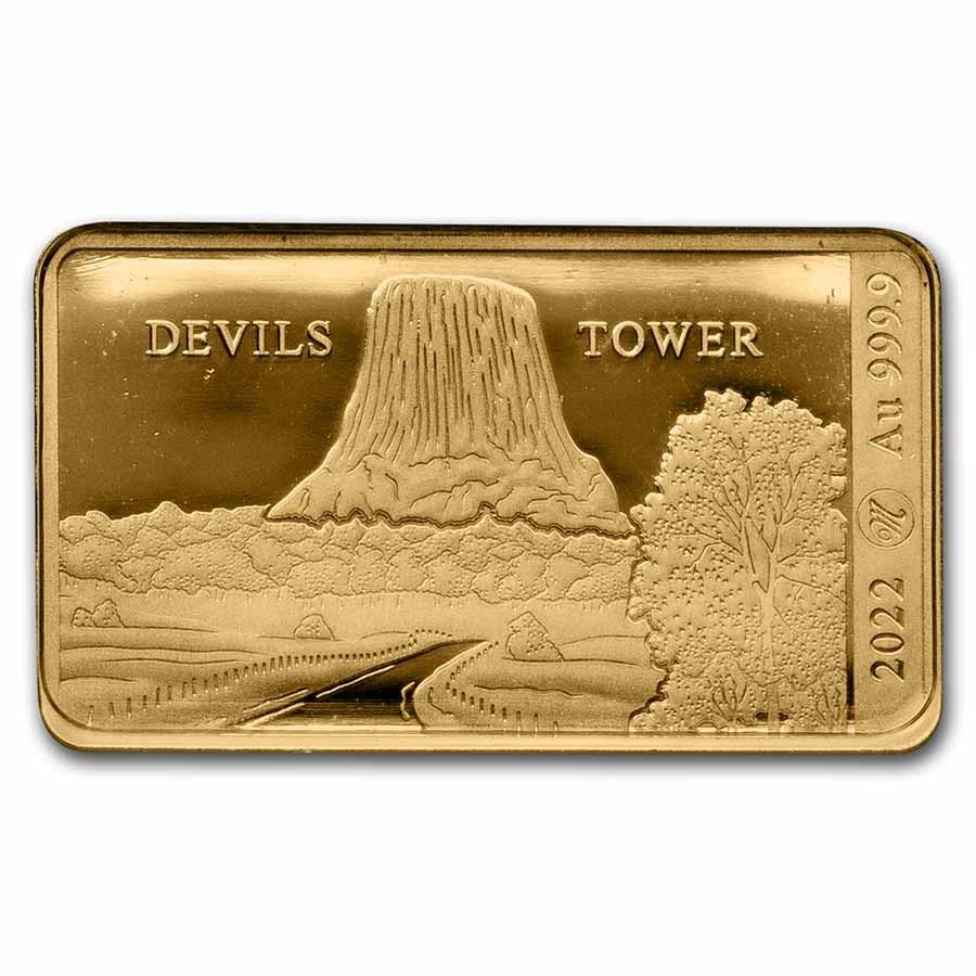 2022 Solomon Islands 1/100 oz Gold Devils Tower