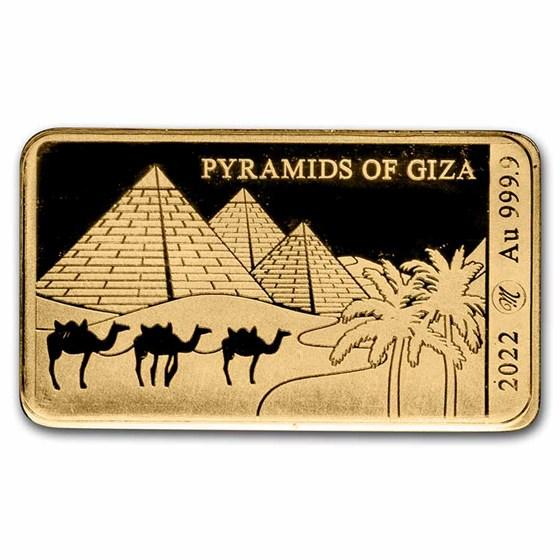 2022 Solomon Islands 1/100 oz Gold Pyramids of Giza