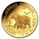 2022 Somalia 1 oz Gold Elephant Coin BU