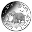 2022 Somalia 1 oz Silver Elephant BU