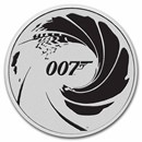 2022 Tuvalu 1 oz Silver James Bond 007 BU