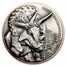 2022 Vanuatu Silver and Copper Triceratops