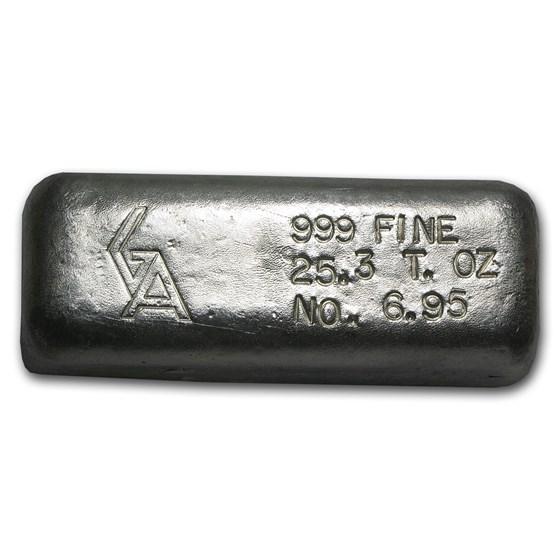25.30 oz Silver Bar - Golden Analytical