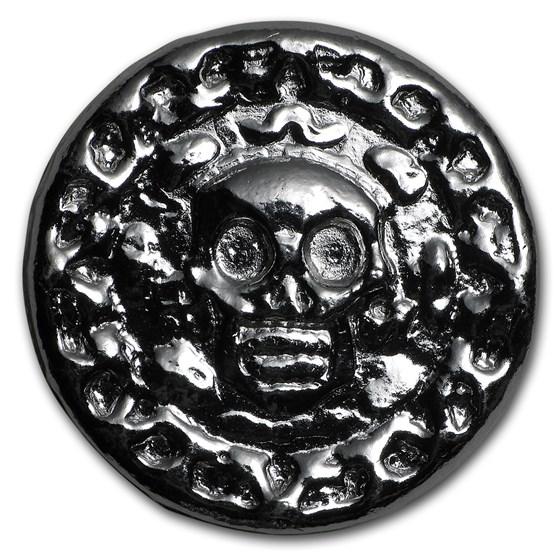 25 gram Hand Poured Silver Round - Plata Muerta