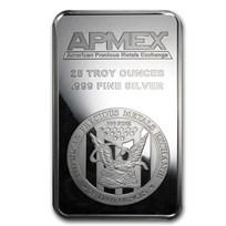 25 oz Silver Bar - APMEX (Struck)