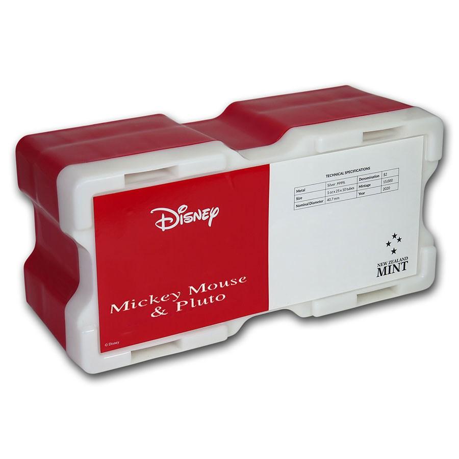 250-Coin Niue 1 oz Silver $2 Mickey & Pluto Monster Box (Empty)