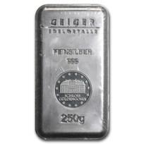 250 gram Silver Bar - Geiger Security Line Series (Scruffy)