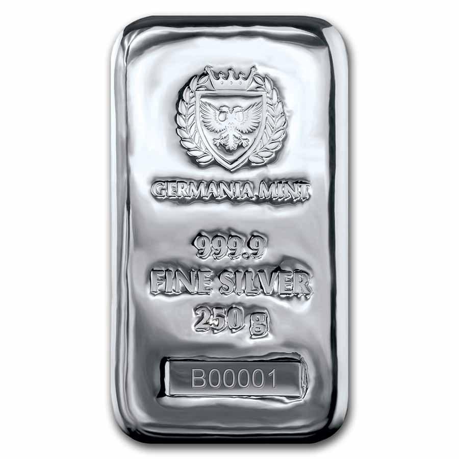 250 gram Silver Bar - Germania Mint (Serialized)