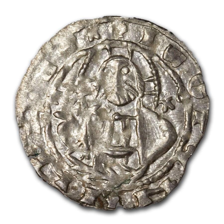 2nd Bulgarian Empire Silver AR Grosh 1356-1396 Ivan Stratsimir XF