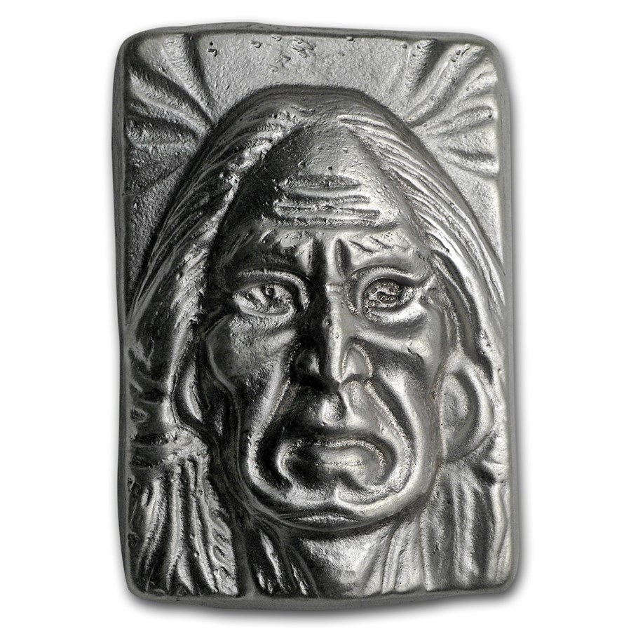 3 oz Hand Poured Silver Bar - 1st 50 Issued (Wise Indian)