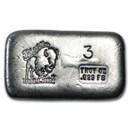 3 oz Hand Poured Silver Bar - BB