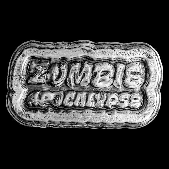 3 oz Hand Poured Silver - Zombie Apocalypse