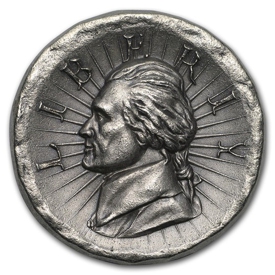 3 oz Outré High Relief Silver Round - Jefferson Liberty