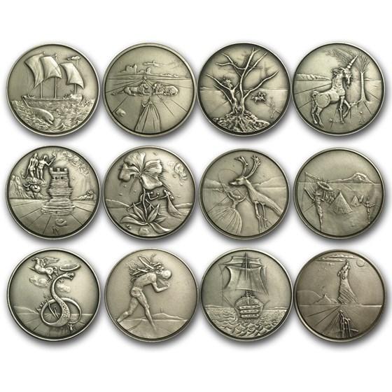 30.15 oz Silver Round - Twelve Tribes of Israel (12 Piece Set)