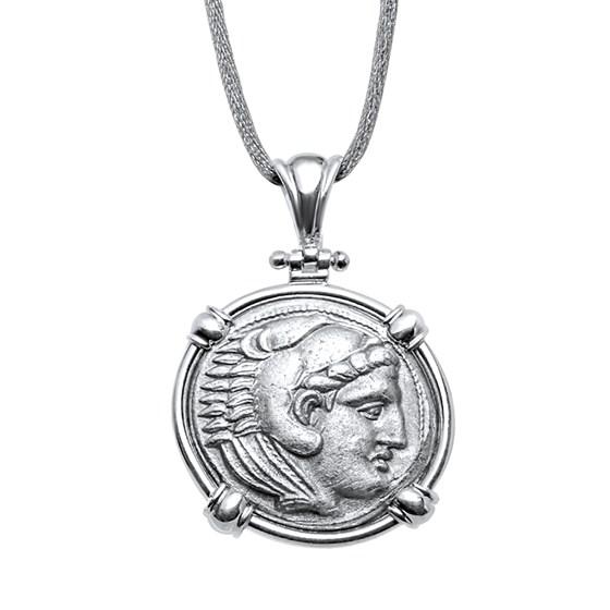(336-323 BC) Alexander III Sterling Pendant and Earrings Set