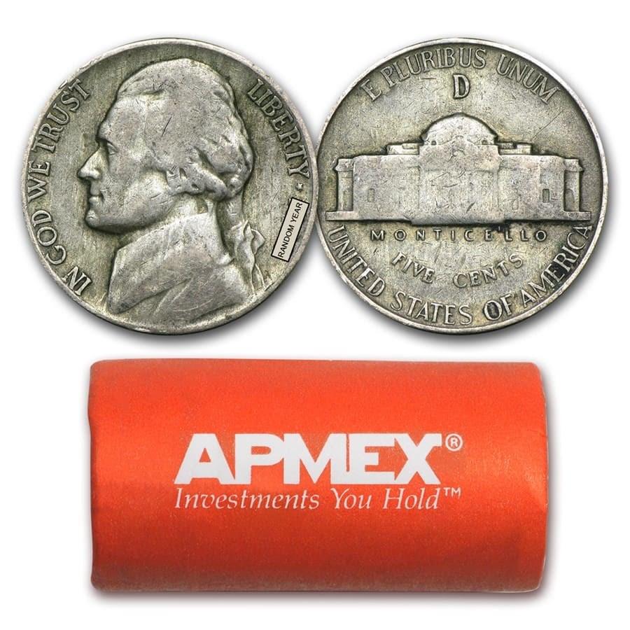 35% Silver War Nickels $1 Face Value Avg Circ
