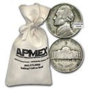 35% Silver War Nickels $200 Face Value Bag