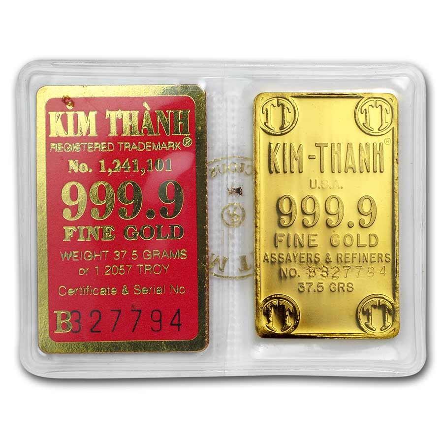 37.5 gram Gold Bar - Secondary Market (w/Assay)