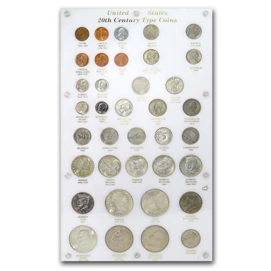 37-Coin U.S. 20th Century Type Set (Capital Plastics)
