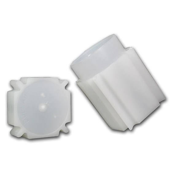 38 mm Large Dollar Size Square Coin Tube