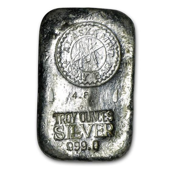 4.8 oz Silver Bar - Alaska Mint Assay