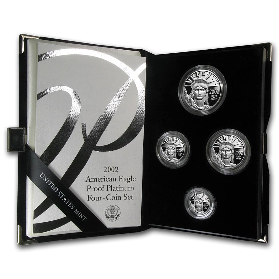 4-Coin Proof Platinum Eagle Set (Random Year, w/Box & COA)