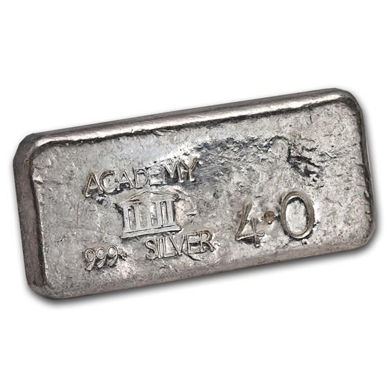 4 oz Silver Bar - Academy (Vintage)