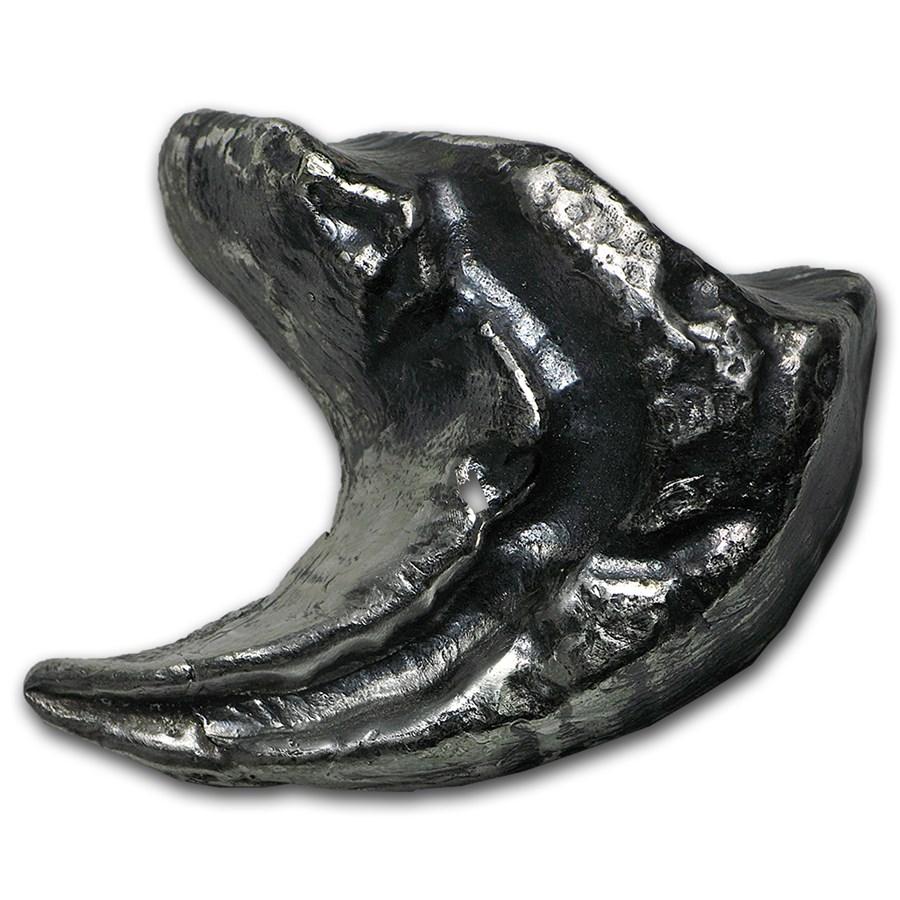 4 oz Silver - MK Barz & Bullion (3D Dinosaur Tooth)
