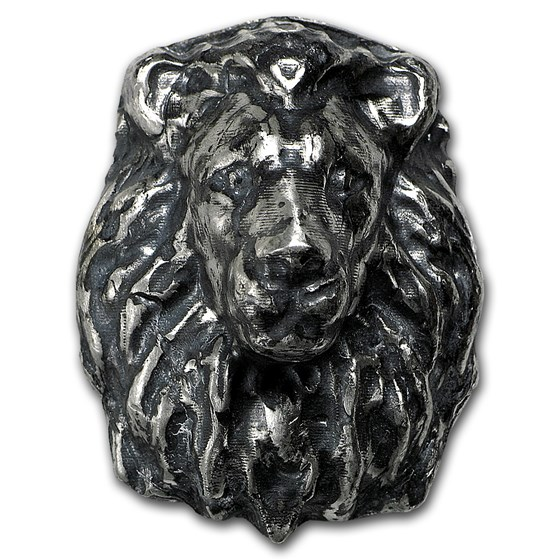 4 oz Silver - MK Barz & Bullion (3D Lion)
