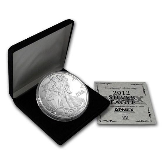 4 oz Silver Round - 2012 Silver Eagle (w/Box & COA)