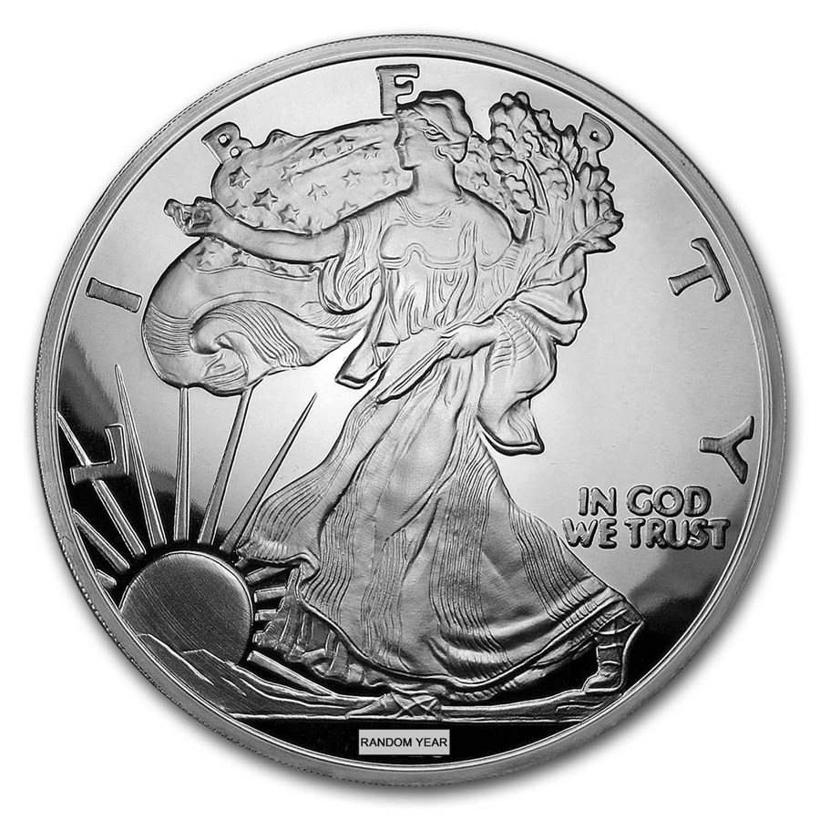 4 oz Silver Round - Random Year Silver Eagle (w/Box & COA)