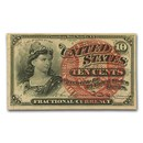 4th Issue Fractional Currency 10 Cents AU (FR#1258)