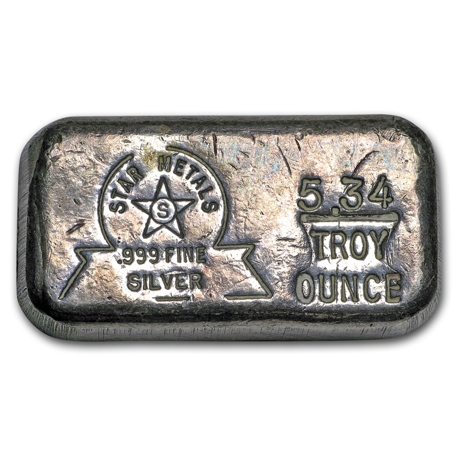5.34 oz Silver Bar - Star Metals