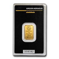 5 gram Gold Bar - Argor-Heraeus (In Assay)