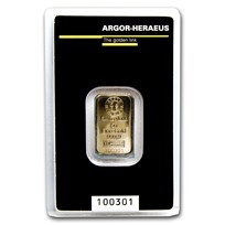 5 gram Gold Bar - Argor-Heraeus KineBar Design (In Assay)