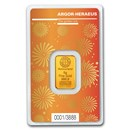 5 gram Gold Bar - Argor-Heraeus Year of the Ox (In Assay)
